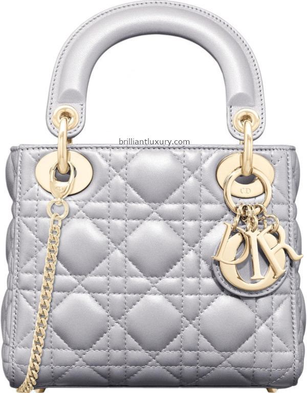 Opal Grey Pearly Lady Dior Bag