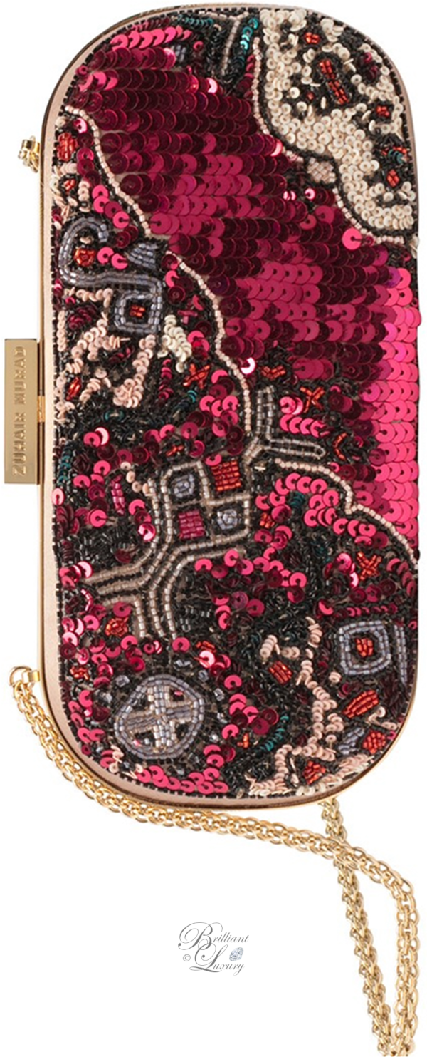 Zuhair Murad embroidered clutch in pink