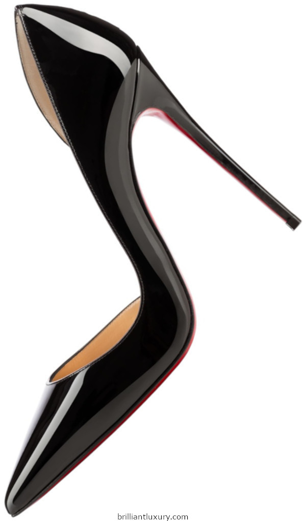 Brilliant Luxury│Christian Louboutin Iriza black patent leather pumps