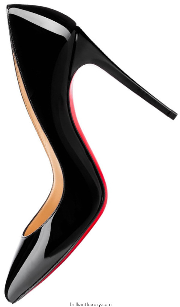 Brilliant Luxury│Christian Louboutin Pigalle Follies black patent leather pumps