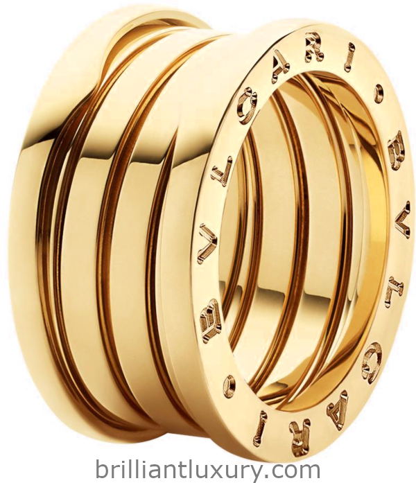 Bvlgari B.Zero1 four-band ring in 18kt yellow gold