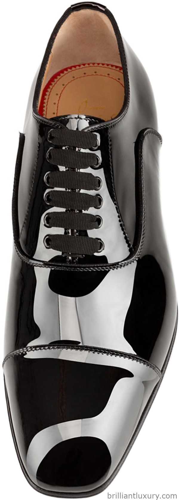 Christian Louboutin Greggo oxford flat in black patent leather