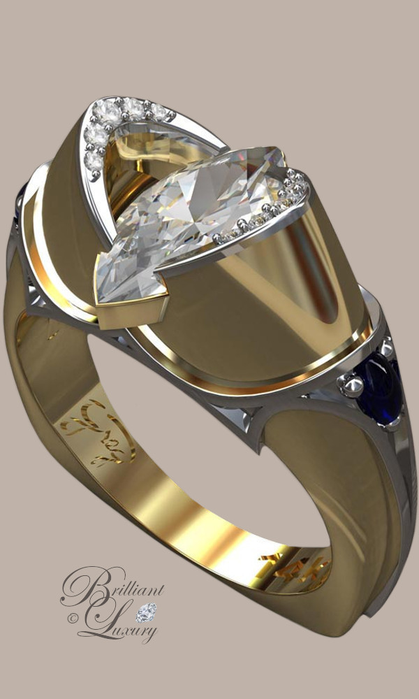 Greg Neeley Bridal Jewelry Medieval Marquis Engagement Ring