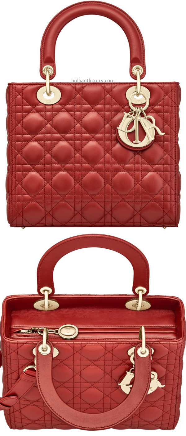 Brilliant Luxury│Classic Lady DIOR bag in red