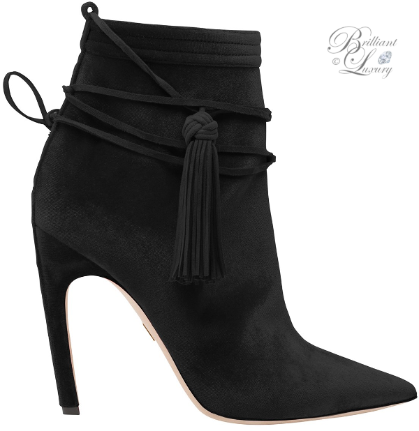 Zuhair Murad tassel booties in black