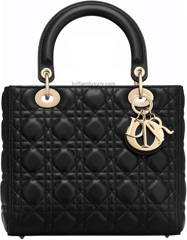 Classic Lady Dior Bags in black