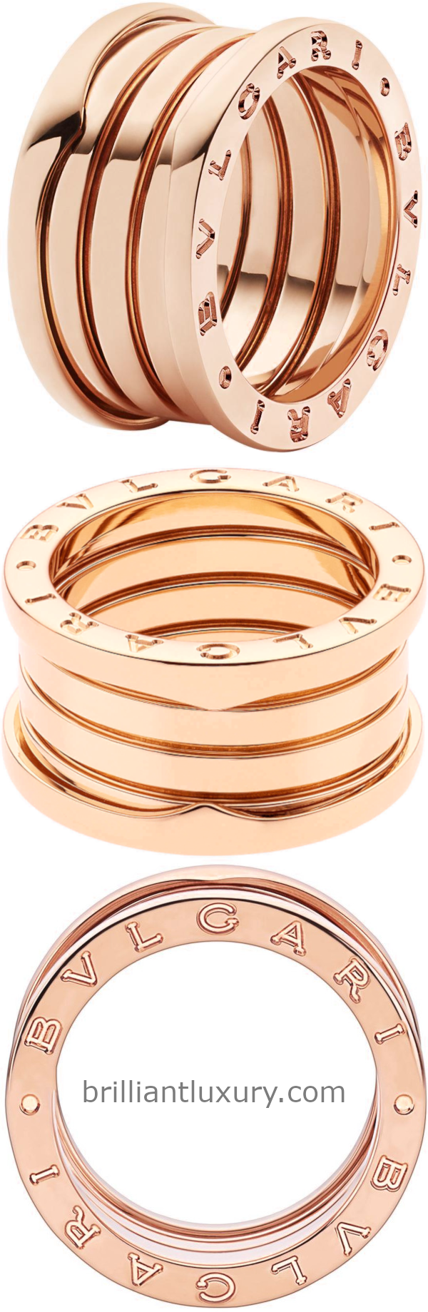 Bvlgari B.Zero1 four-band ring in 18kt rose gold