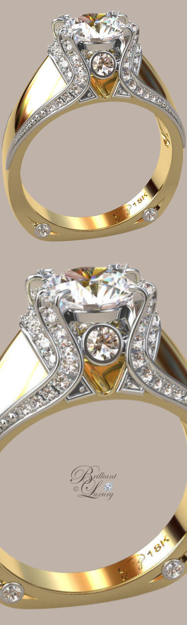 Greg Neeley Italian Top Ladies Diamond 18k Ring