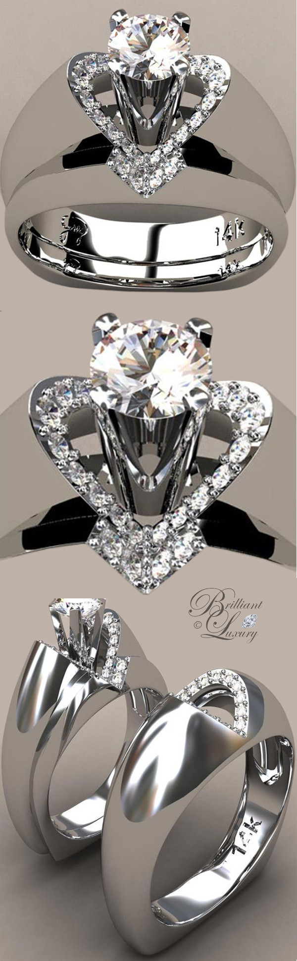 Greg Neeley Bridal Jewelry V Top Princess Wedding Rings