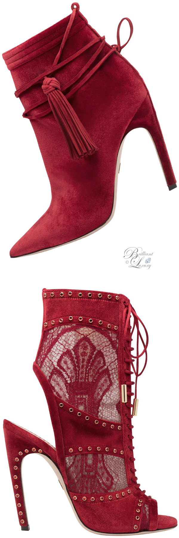 Zuhair Murad booties in red