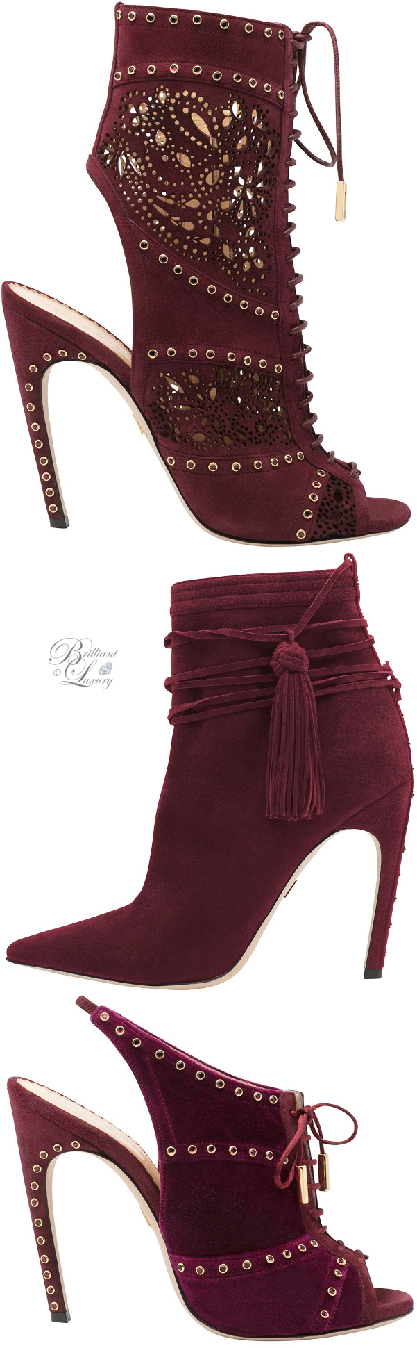 Zuhair Murad shoe collection in burgundy