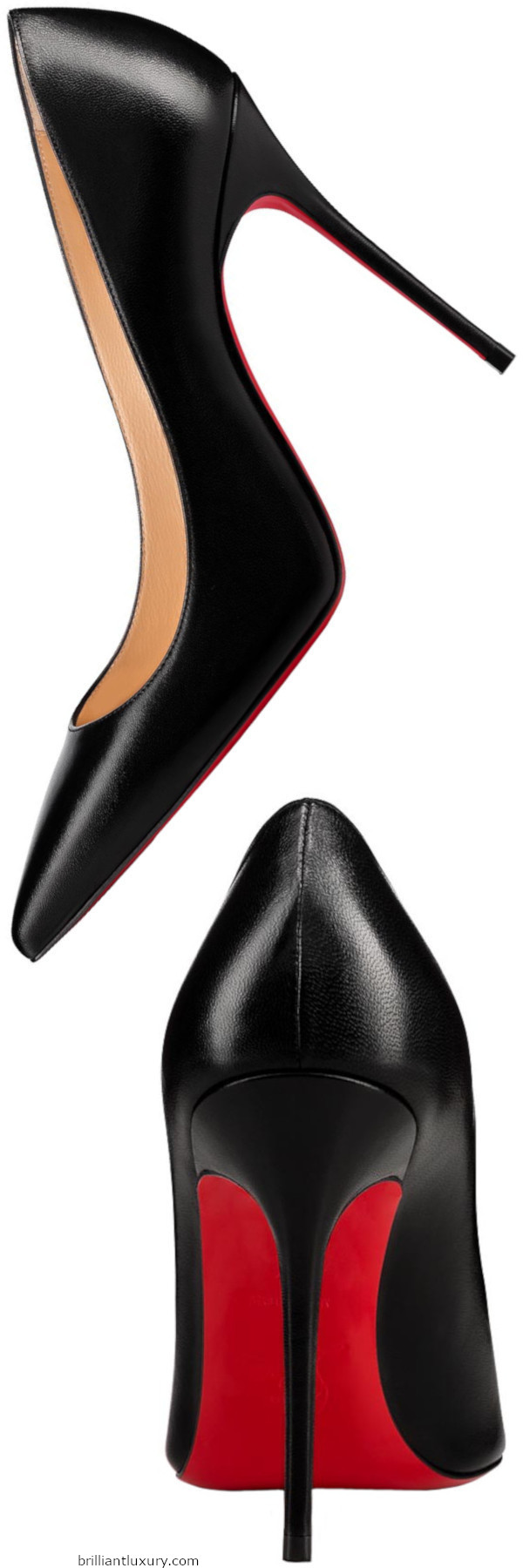 Brilliant Luxury│Christian Louboutin Decollette black nappa leather pumps