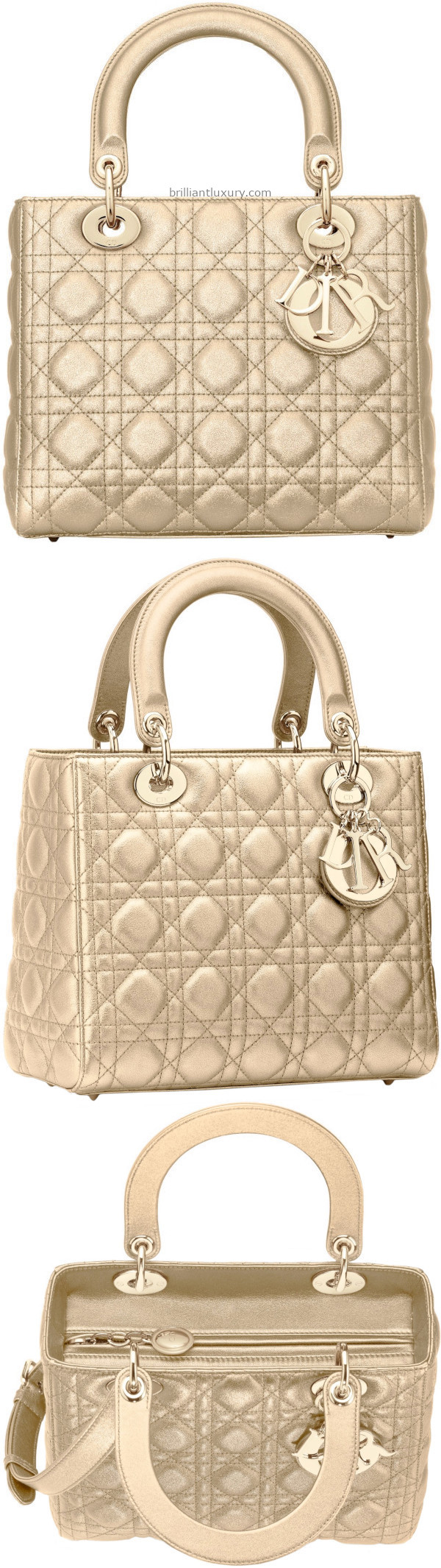 Light Gold Metallic Dior Bag