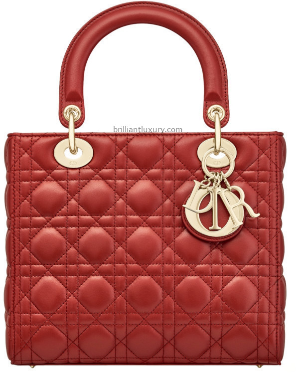 Classic Lady Dior Bags in red