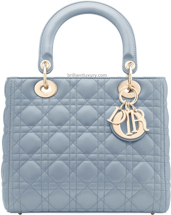 Classic Lady Dior Bags in Sky Blue