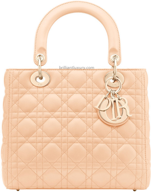 Skin Colored Lady Dior Bags