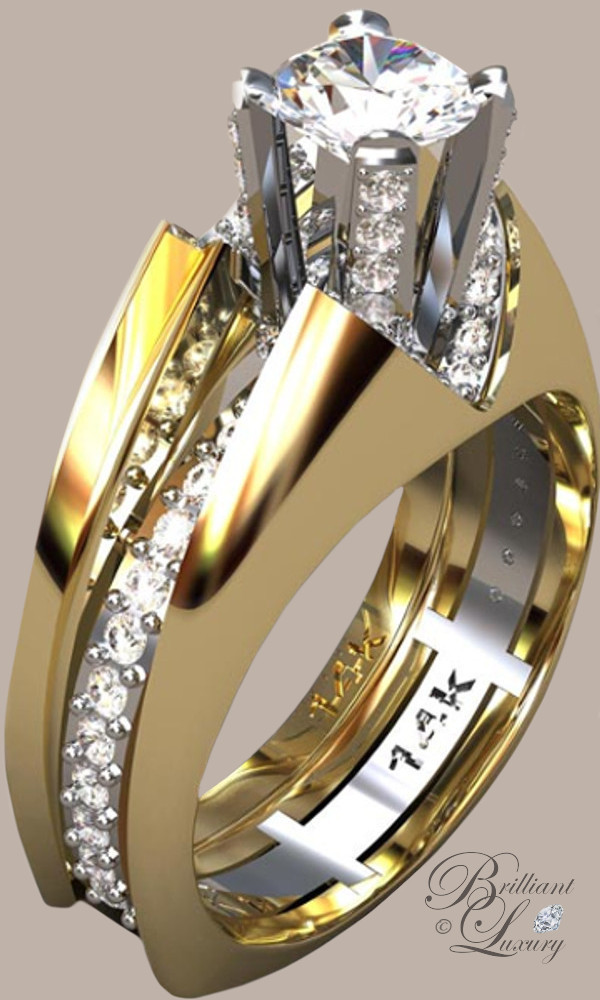 Greg Neeley Split Shank V Top Princess Wedding Rings