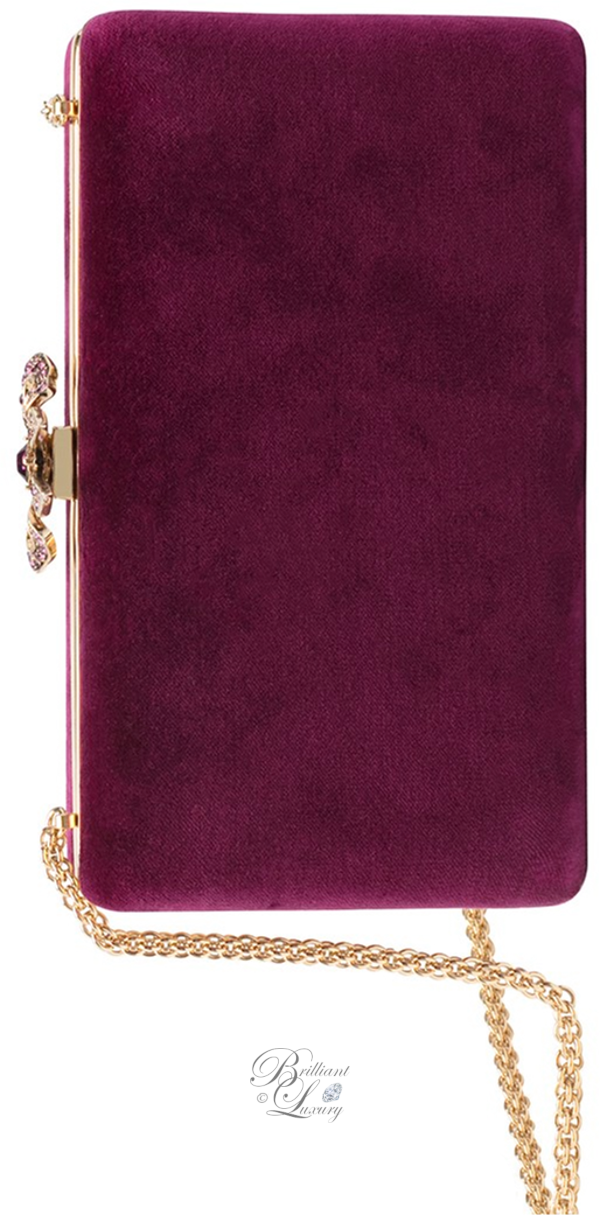 Brilliant Luxury│Zuhair Murad velvet clutch in pink