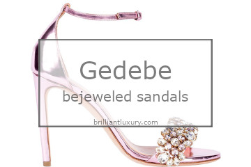 Brilliant Luxury│NEW IN│Gedebe bejeweled sandals