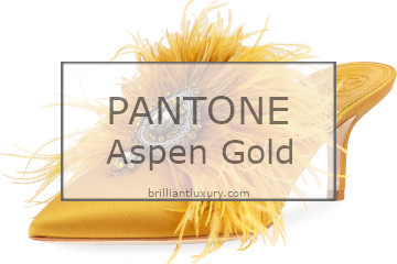 Brilliant Luxury│Pantone Fashion Color 2019│Aspen Gold│Shoes
