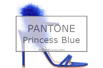 Brilliant Luxury│Pantone Fashion Color 2019│Princess Blue│Shoes