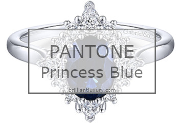 Brilliant Luxury│Pantone Fashion Color 2019│Princess Blue│Jewelry