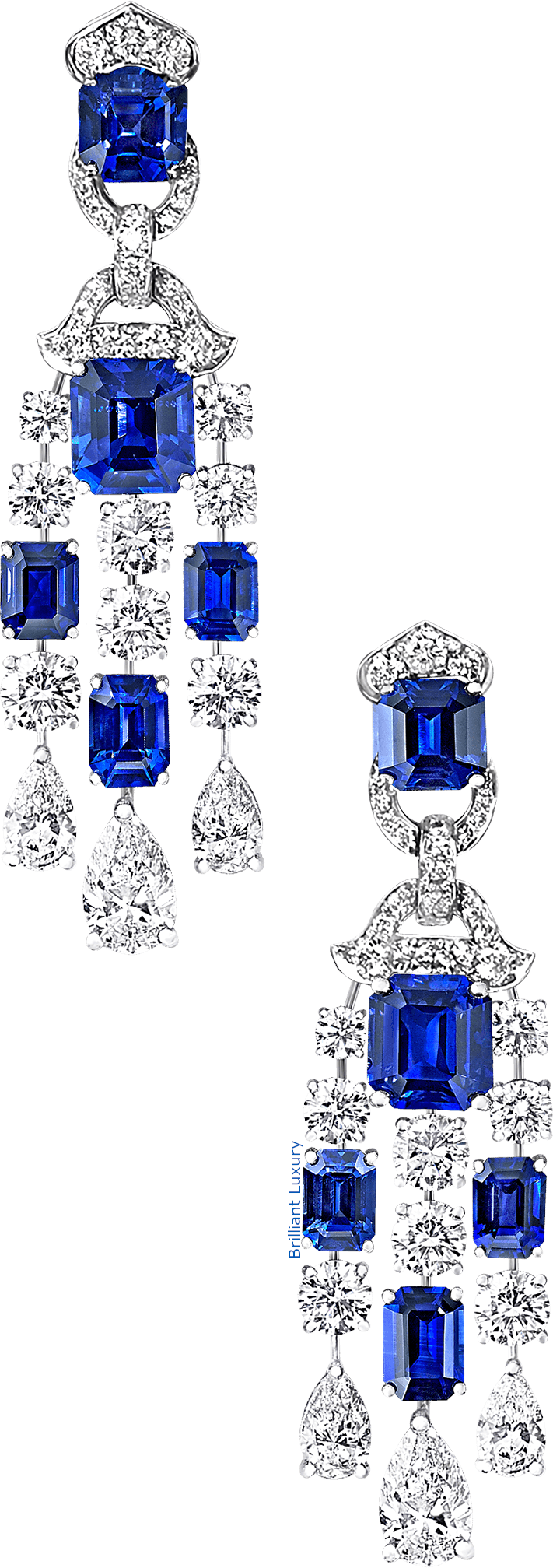Graff sapphire and diamond earrings
