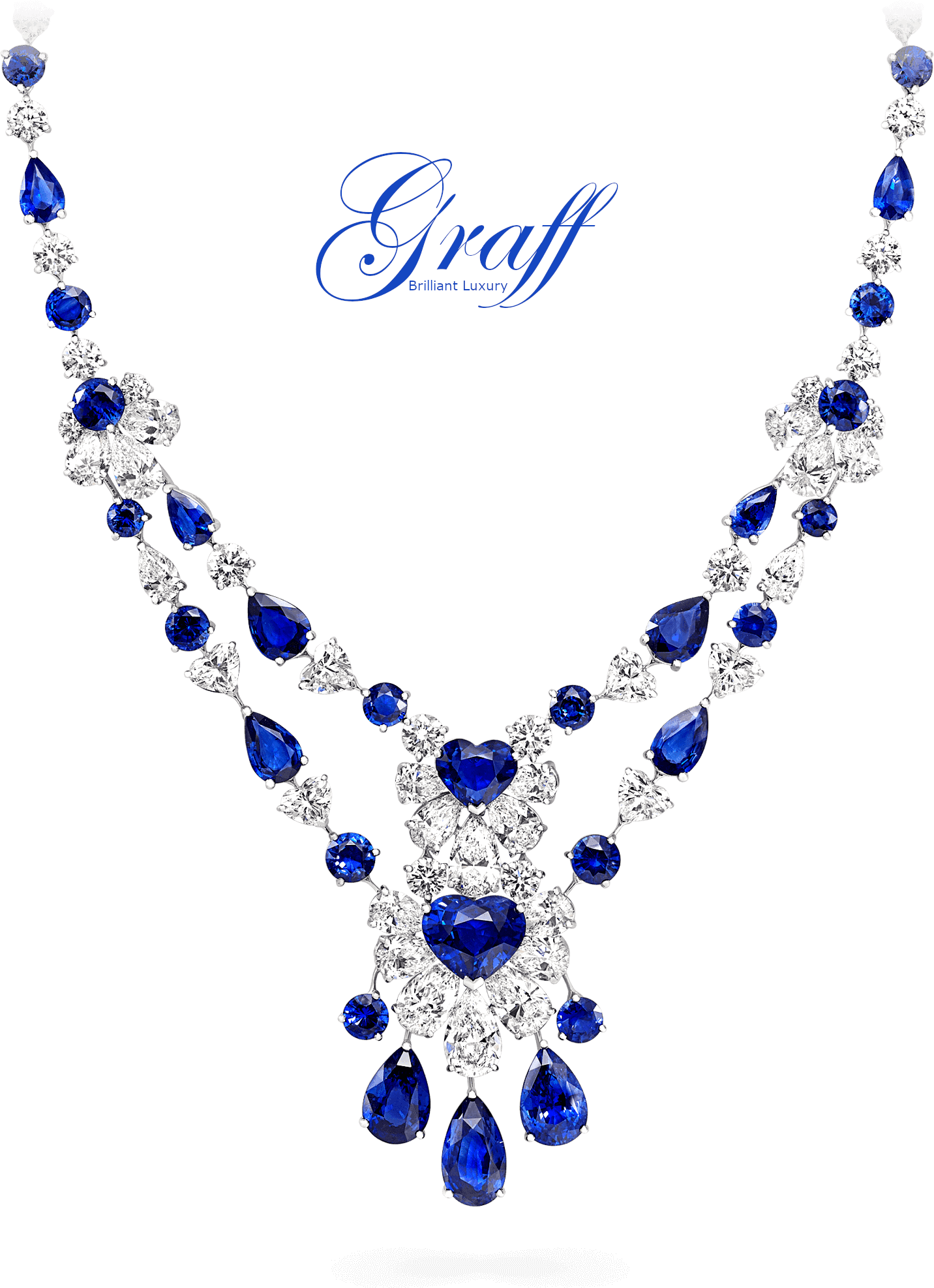 Graff sapphires and diamond necklace
