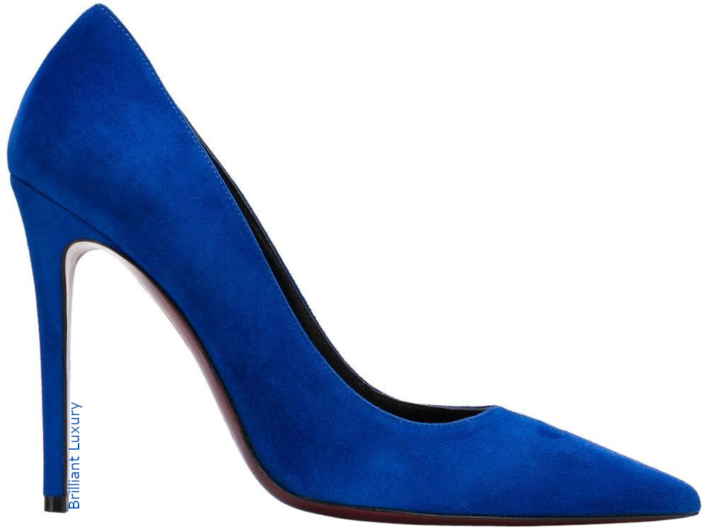 Deimille pointed slip-on pumps in Pantone Color Princess Blue