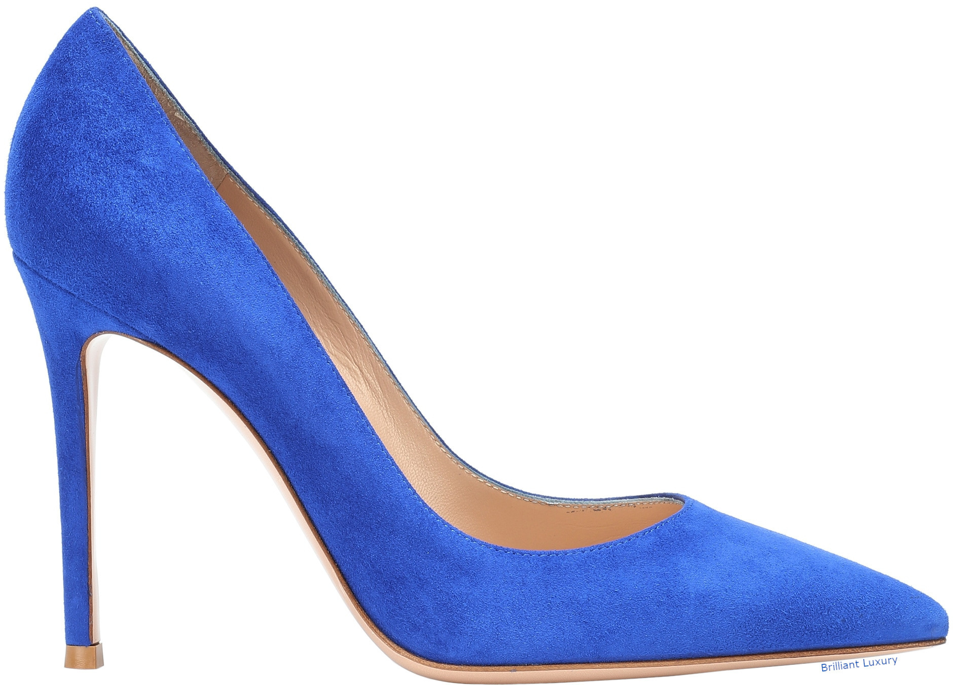 Gianvito Rossi Gianvito suede pumps in Pantone Color Princess Blue