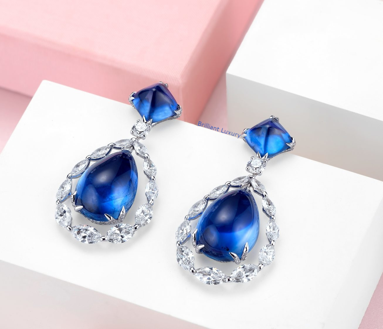 Sapphire high jewelry earrings