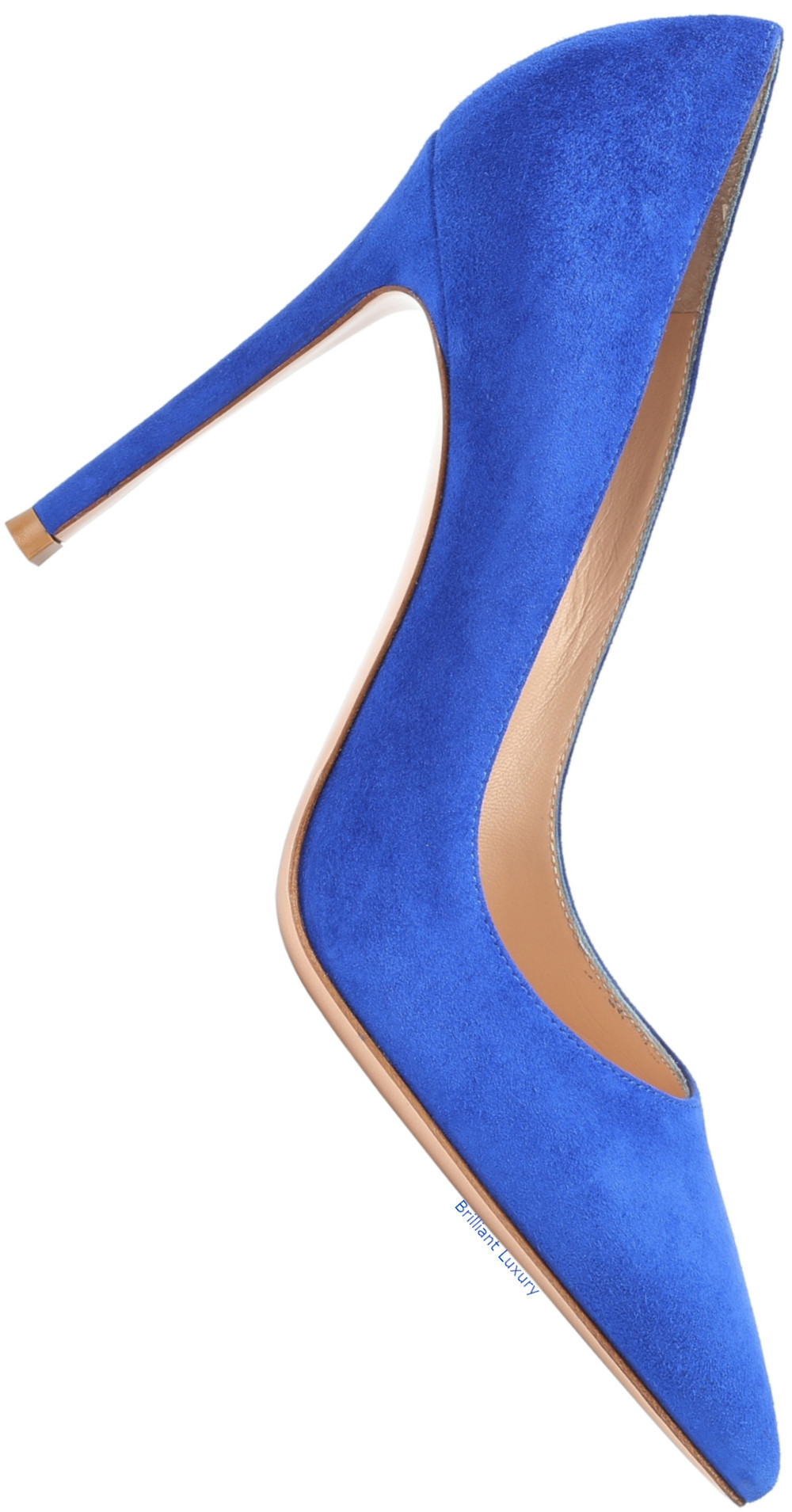 Gianvito Rossi Gianvito blue suede pumps