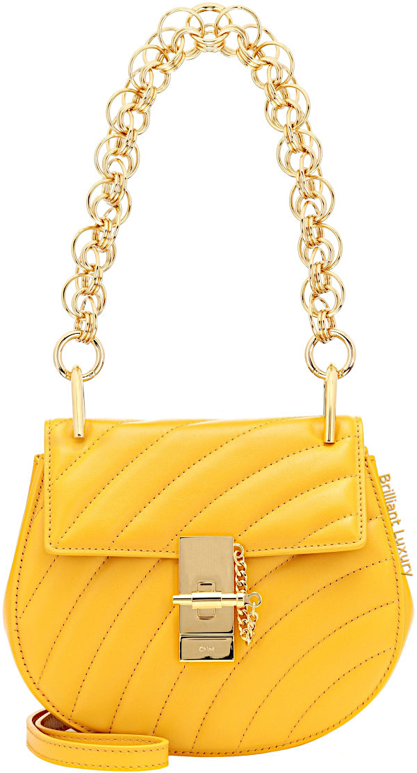 Chloé Drew mini bijou shoulder bag in Pantone color aspen gold