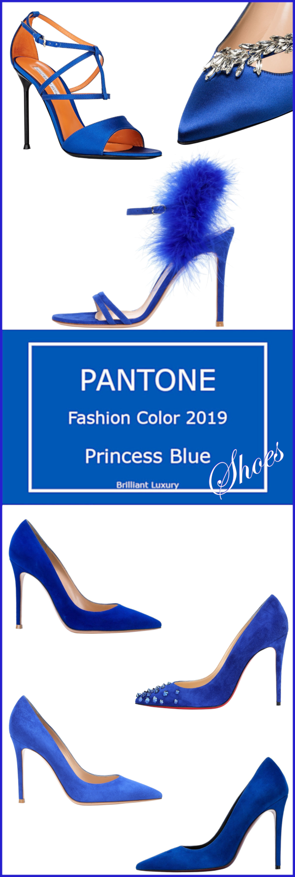 Pantone Color Princess Blue Shoes