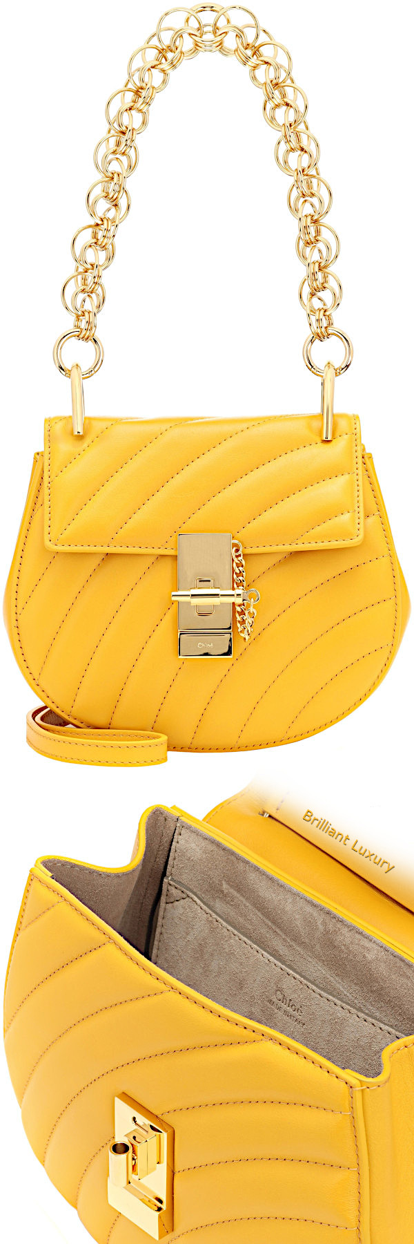 Chloé Drew mini bijou shoulder bag in yellow