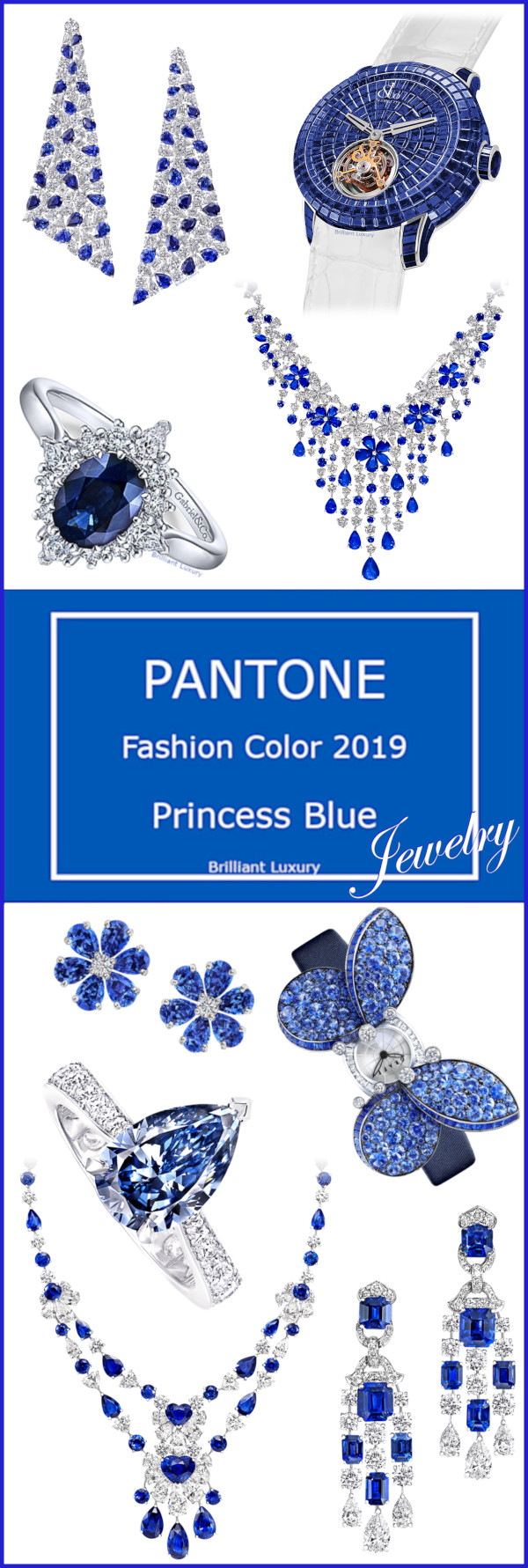 Pantone Princess Blue Jewelry Collection