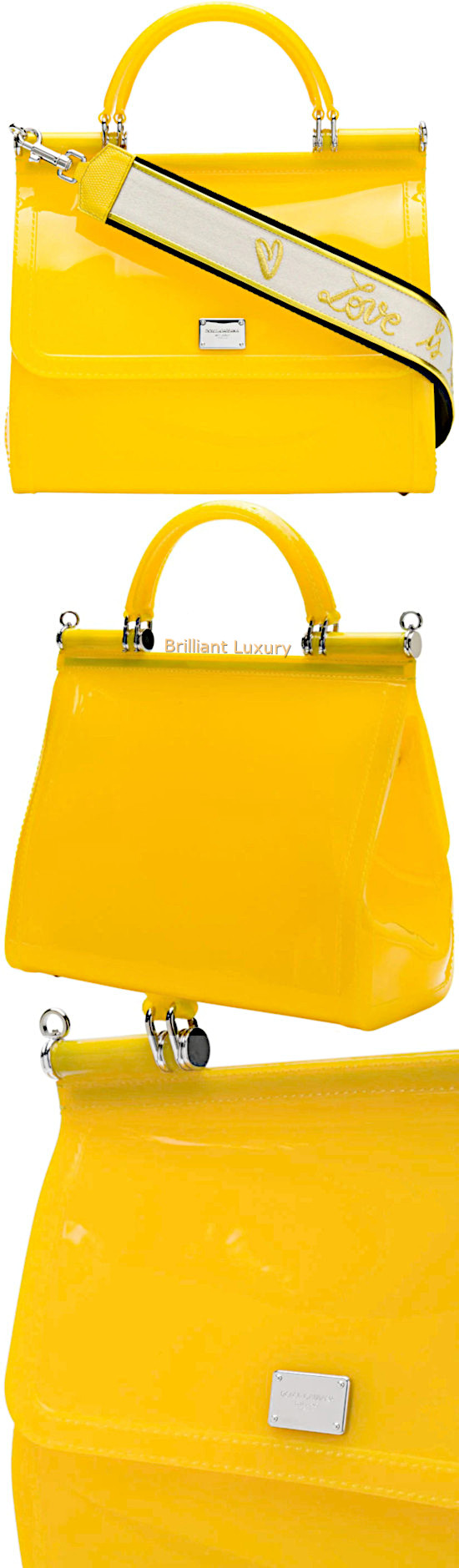 Dolce & Gabbana Sicily shoulder bag in yellow