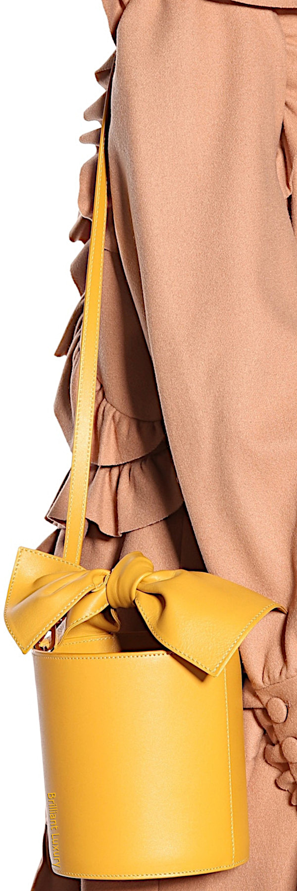 Ulla Johnson Sophie mini leather bucket bag in yellow