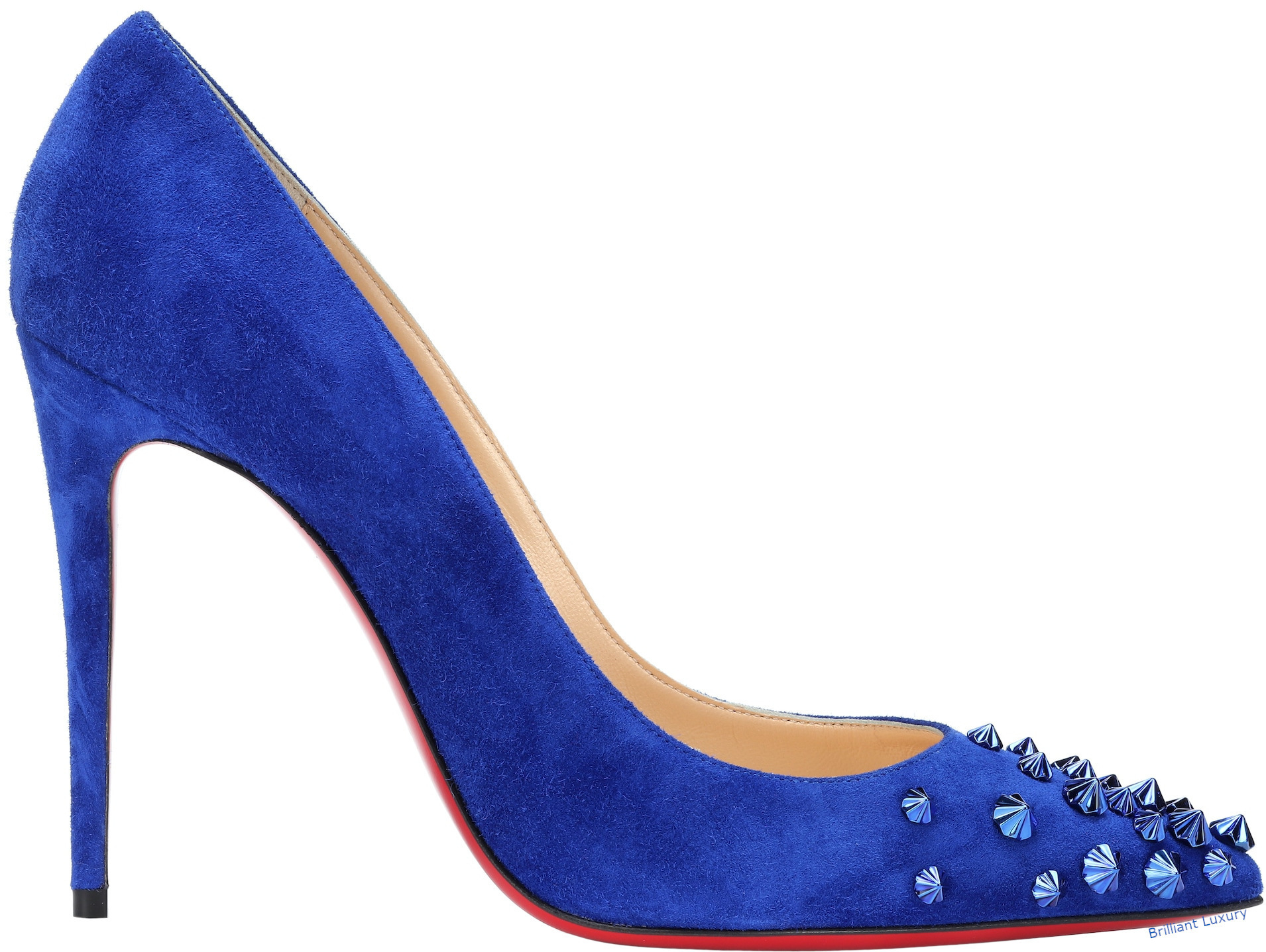 Christian Louboutin Drama suede pumps in Pantone Color Princess Blue