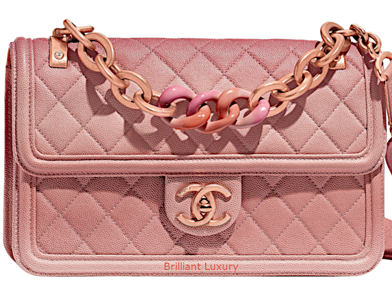 Chanel quilted ombre bag in Pantone Color Living Coral