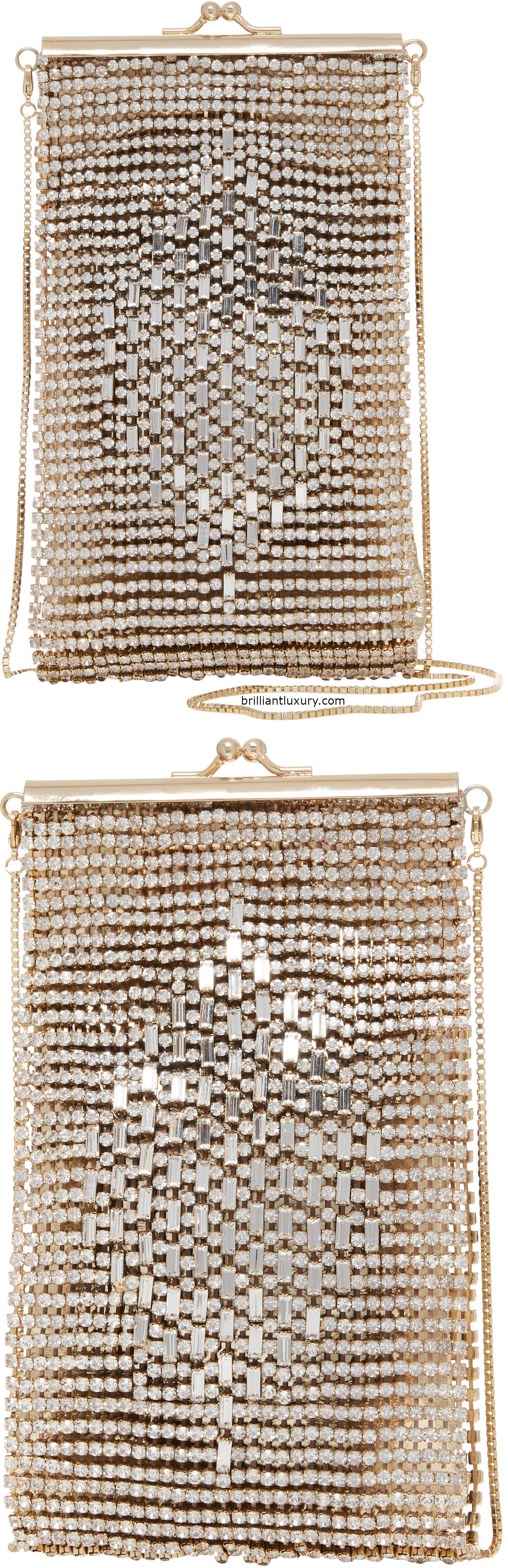 Rosantica Hayley crystal-embellished gold-tone shoulder bag