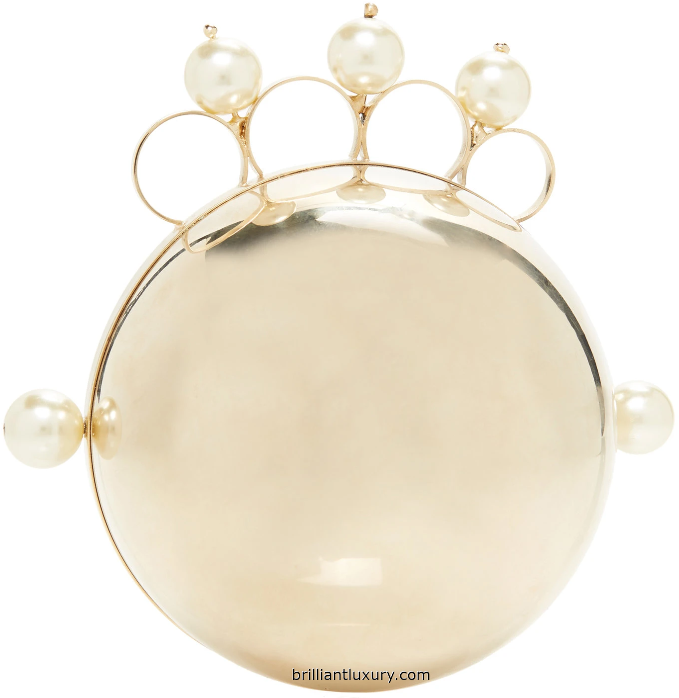 Rosantica Minnie gold-tone faux pearl-embellished clutch