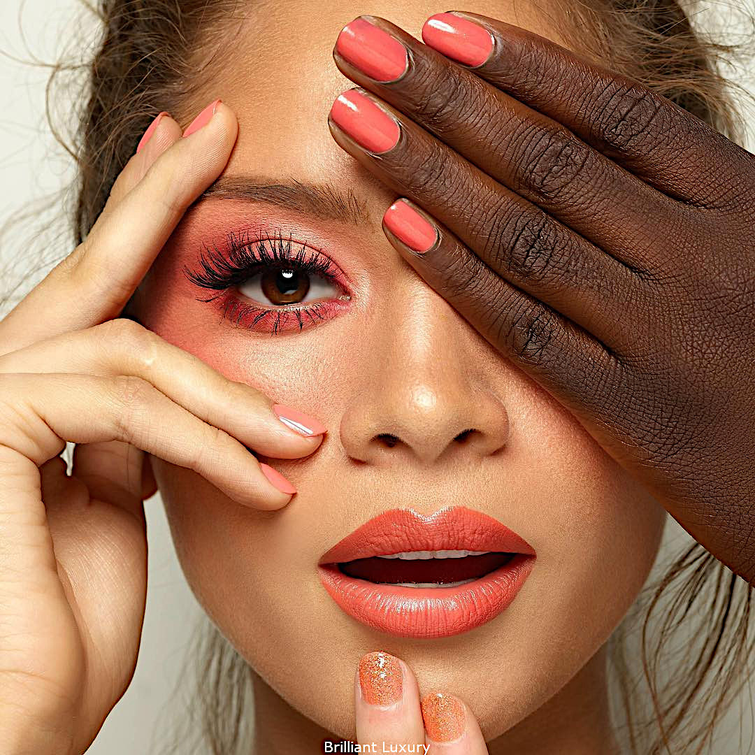 Butter London coral make-up