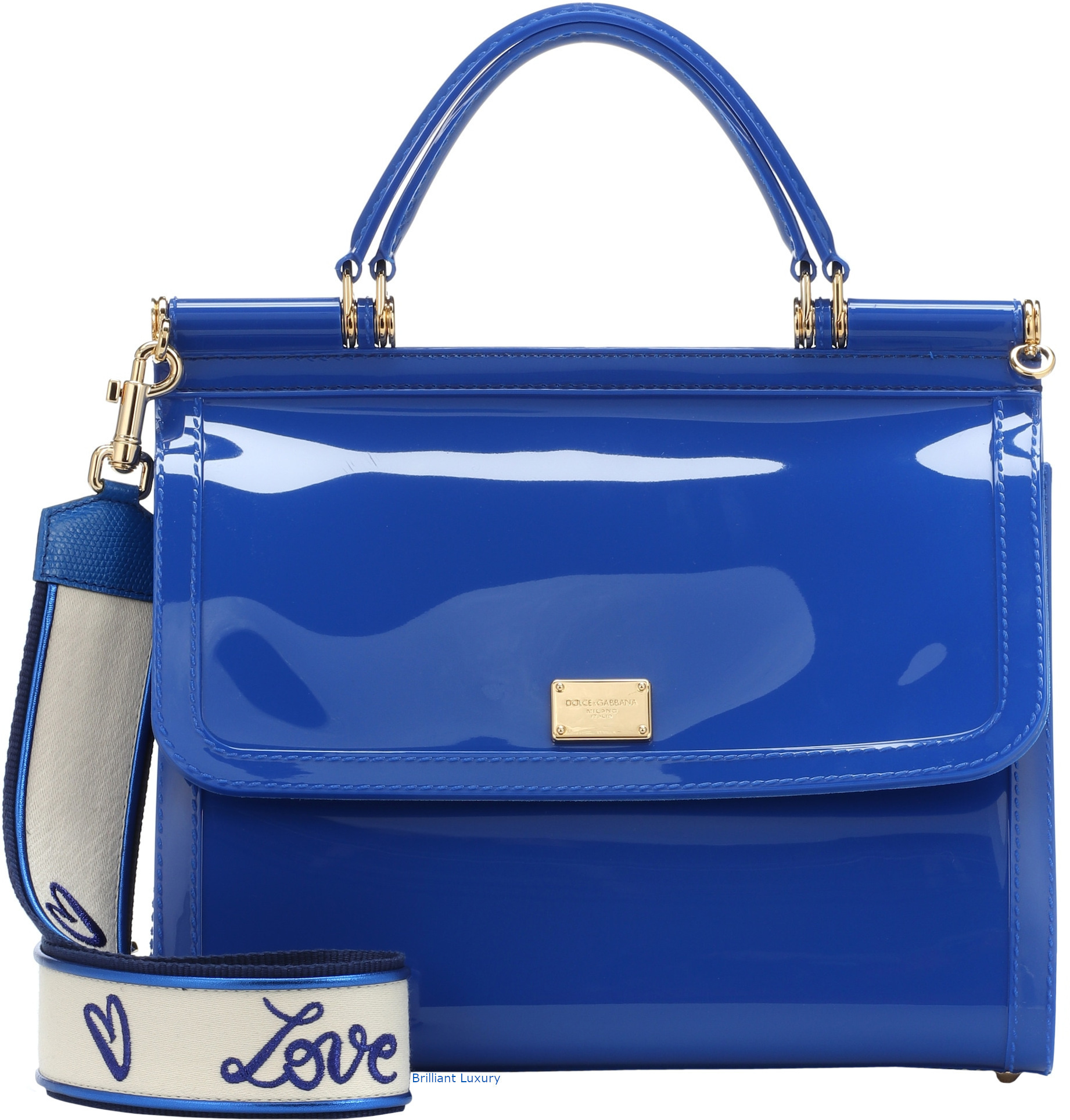 Dolce & Gabbana Sicily PVC shoulder bag in Pantone Princess Blue