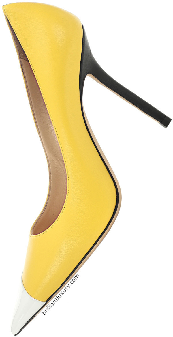 Jimmy Choo Love leather pumps in Pantone Color Saffron