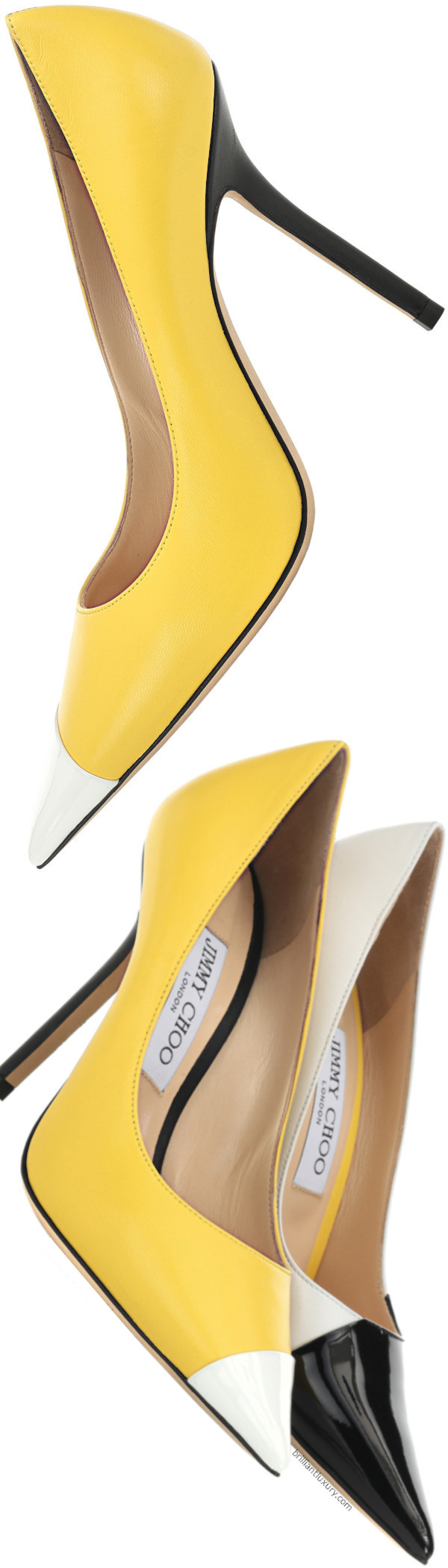 Jimmy Choo Love leather pumps