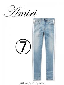 10 Hottest Men's Products 3-2019 Lyst Index Amiri Track distressed striped jeans