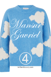 10 Hottest Products 3-2019 Lyst Index Mansur Gavriel cloud print sweater