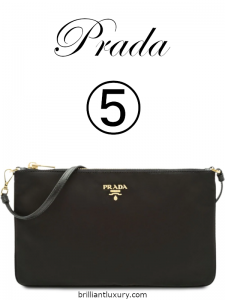 10 Hottest Products 3-2019 Lyst Index Prada black Nylon flat pouch