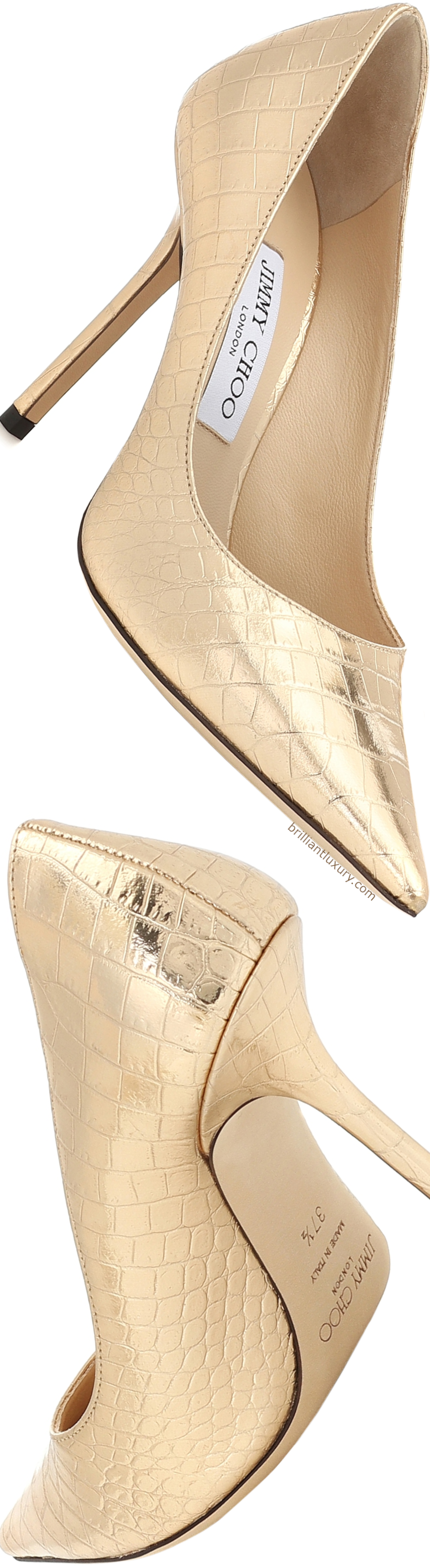 Jimmy Choo Love snake-effect leather pumps #shoes #accessories
